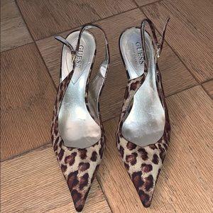 Cheetah Guess Heels
